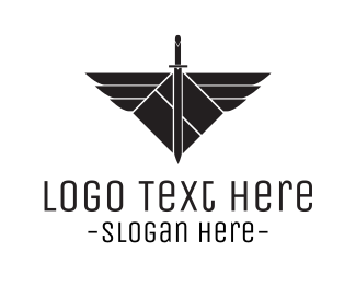 Slayer - Winged Sword logo design
