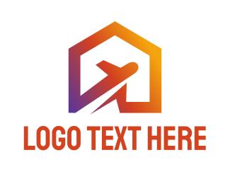 Airport - Jet Home logo design
