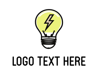 Electricity - Electric Bulb logo design