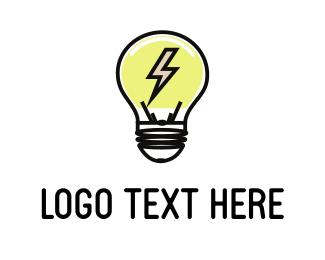 Lightbulb - Electric Bulb logo design
