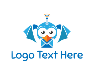 Twitter - Bird Mail logo design