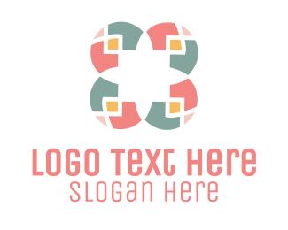 Tile - Mosaic Flower logo design