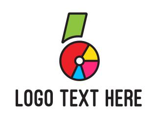 Number 6 - Six Pie logo design
