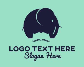 Study - Elephant Book logo design