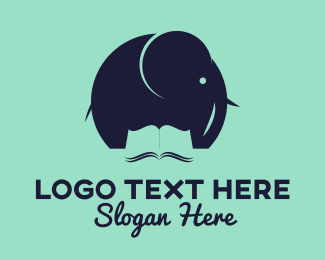 Memory - Elephant Book logo design