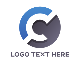 Owner Name - Blue Gray C Circle logo design