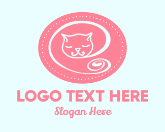 Nursing - Sleepy Cat logo design