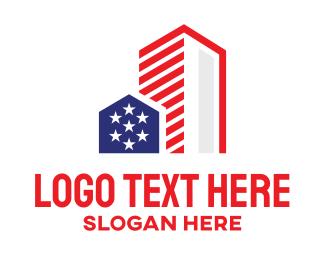 Big Apple - USA Urban City logo design