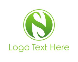 Three - Green S Sphere logo design