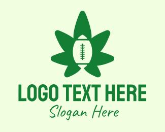 Rugby - Rugby Cannabis  logo design