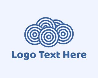 Uploading - Blue Cloud Circles logo design