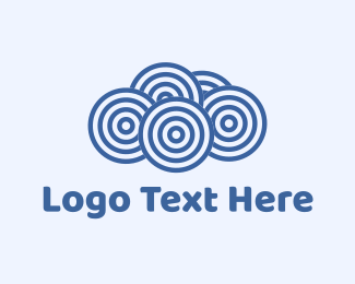 Business - Blue Cloud Circles logo design