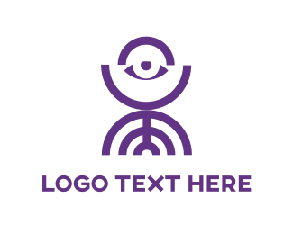 Sight - Abstract Purple Eye logo design