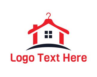 Laundry - Abstract Laundry House logo design