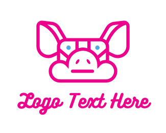 Hosting - Pig Cloud logo design