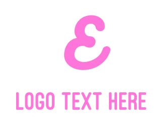 Teen - Cursive Pink Letter E logo design