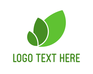 Grocery - Three Green Leaves logo design