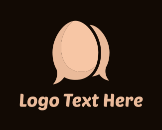 Chat - Egg Chat logo design