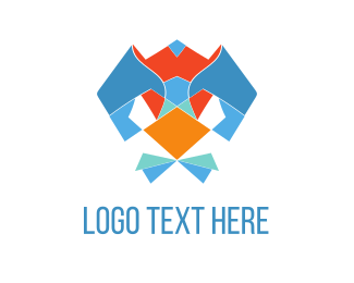 Bowtie - Abstract Bird logo design