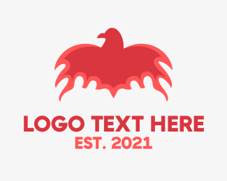 Fantasy - Flaming Bird logo design