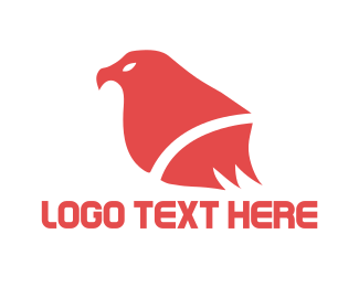 Hawk - Red Bird logo design