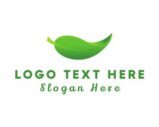 Tea Shop - Green & Organic logo design