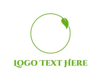 Green - Leaf Circle logo design
