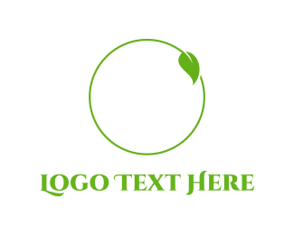 Eco - Leaf Circle logo design