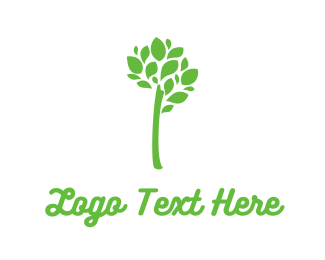 Herbal - Green Branch Leaves logo design