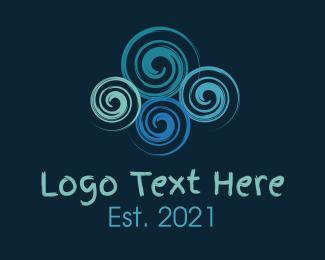Curves - Colorful Swirls logo design