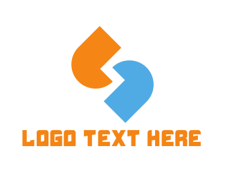 Connected - Blue & Orange Quotes logo design