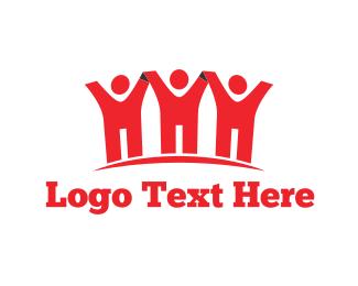Crowd - Red Team logo design