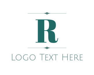 """Elegant Letter R"" by BrandCrowd"