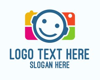 Smiling - Child Camera logo design