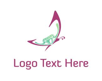 Butterfly & Diamond  Logo