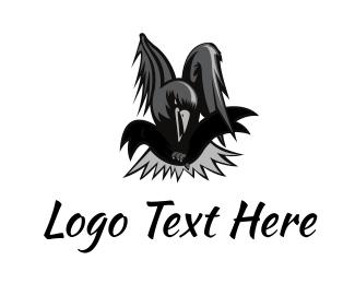 Soccer - Black Crow  logo design