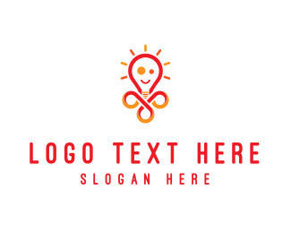 Lighting - Bright Lamp logo design