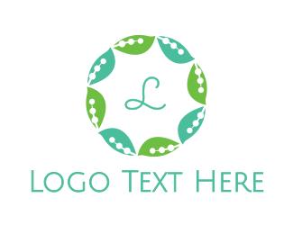 Decorative - Leaf Circle logo design