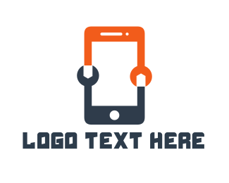 Repairman - Phone Technician logo design