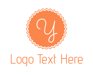 Letter Y - Peach Y Stamp logo design