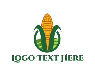 Green And Yellow - Cornfield Circle logo design