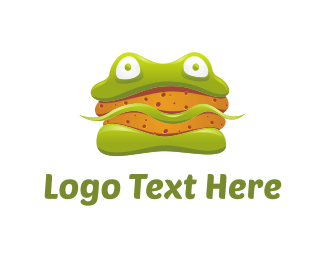 Hamburger - Frog Sandwich logo design