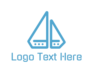 Yacht - Diamond Boat logo design