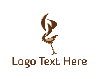 Bar - Brown Martini logo design