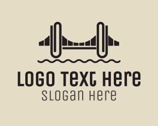 Office Supplies - Clip Bridge logo design