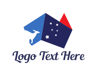 Service - Australia Abstract Flag logo design