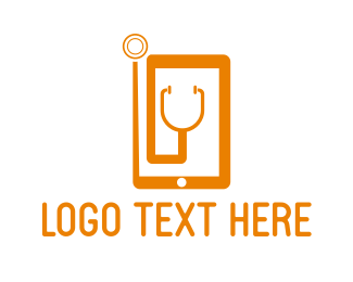 Stethoscope - Medical Phone logo design