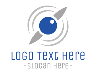 Helicopter - Drone Eye logo design