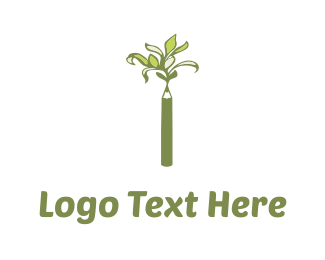 Crayon - Pencil Tree logo design