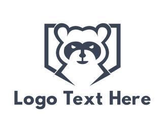 Hockey - Raccoon Bandit logo design
